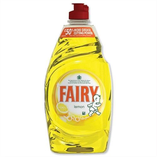 Dishwashing products Fairy Liquid for Washing-up Lemon 433ml Ref 1015072 Pack 2