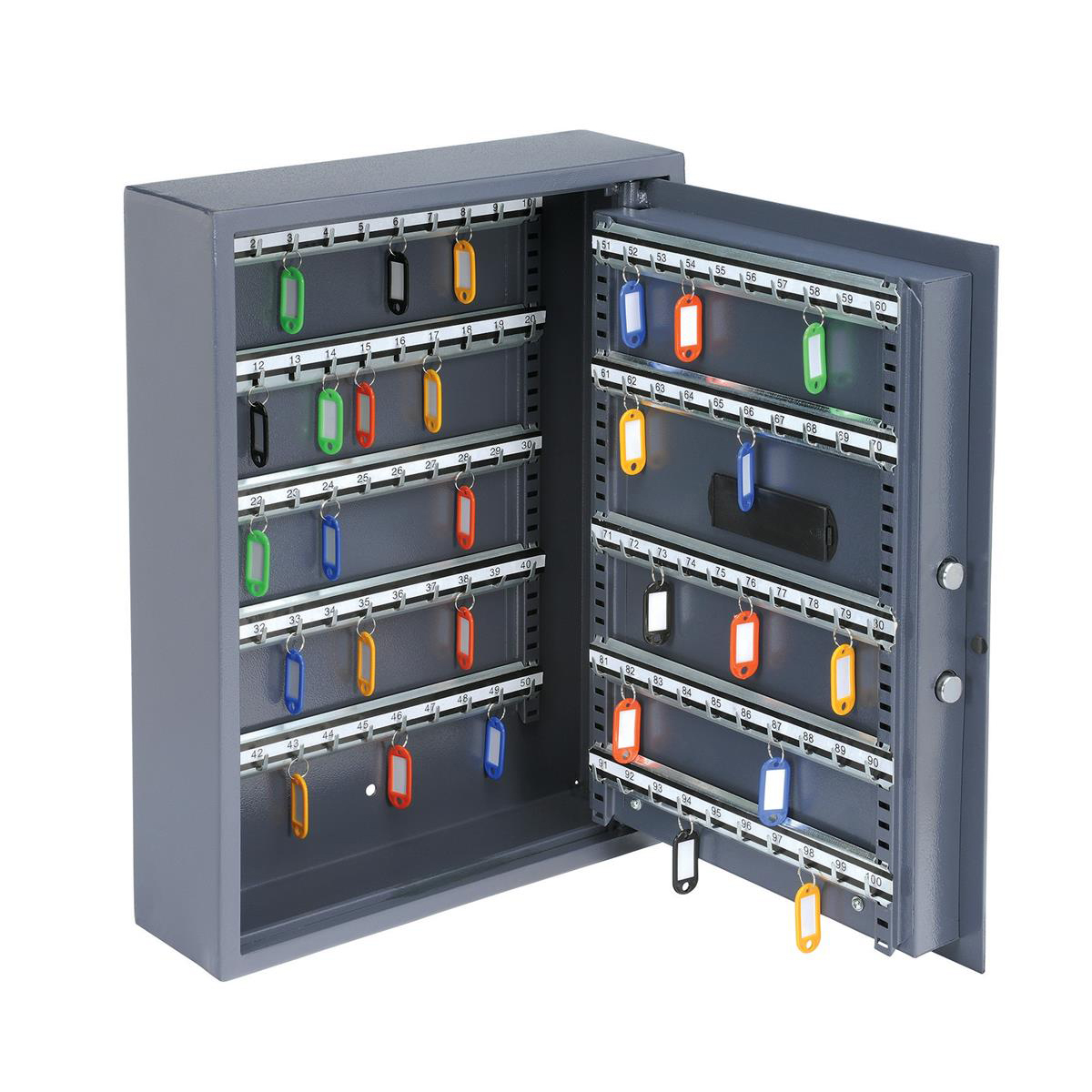 Key cabinets or organizers High Security Key Safe Electronic Key Pad and 30mm Double Bolt Locking 100 Keys