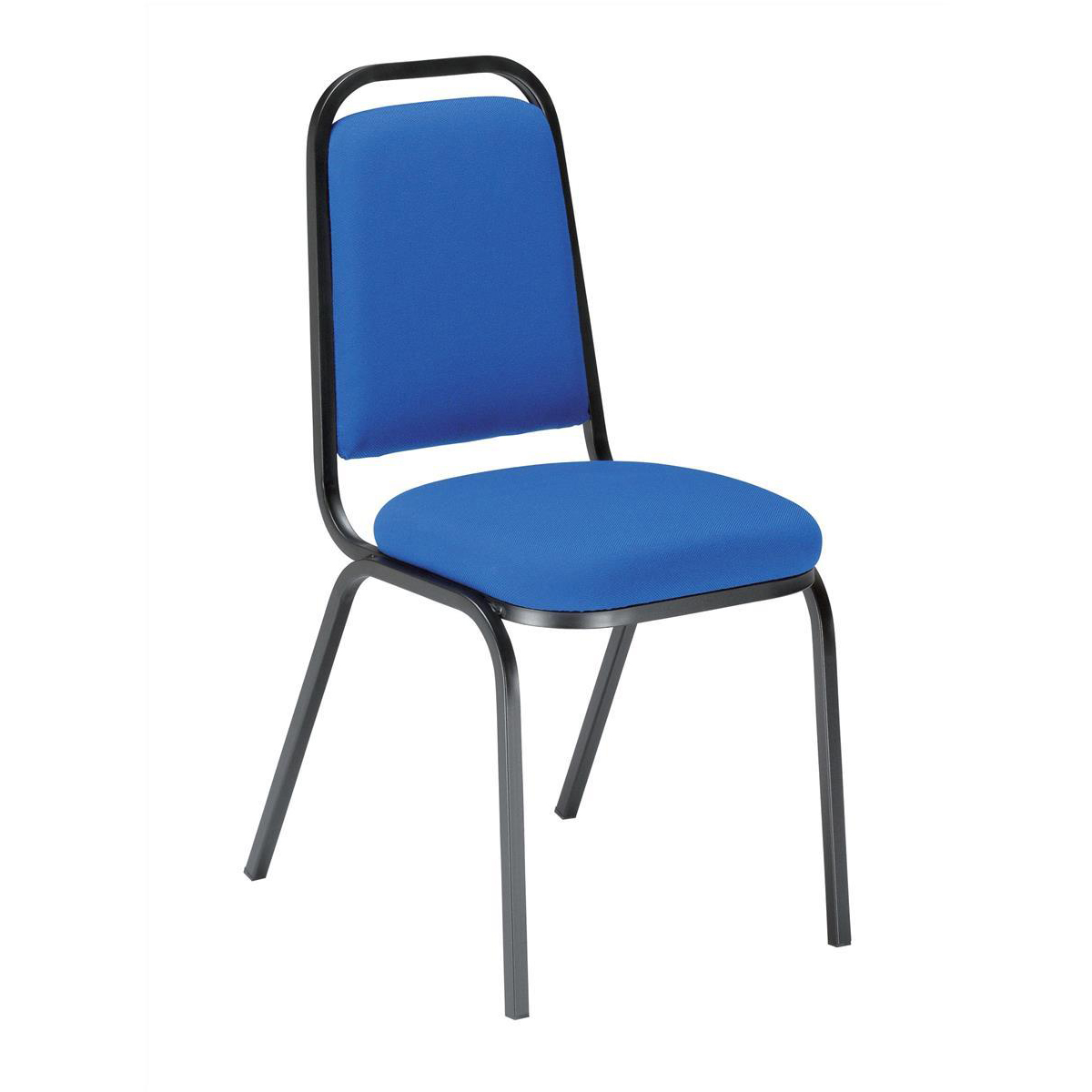 Trexus Visitor Chair Stackable Pre-assembled Fabric Blue
