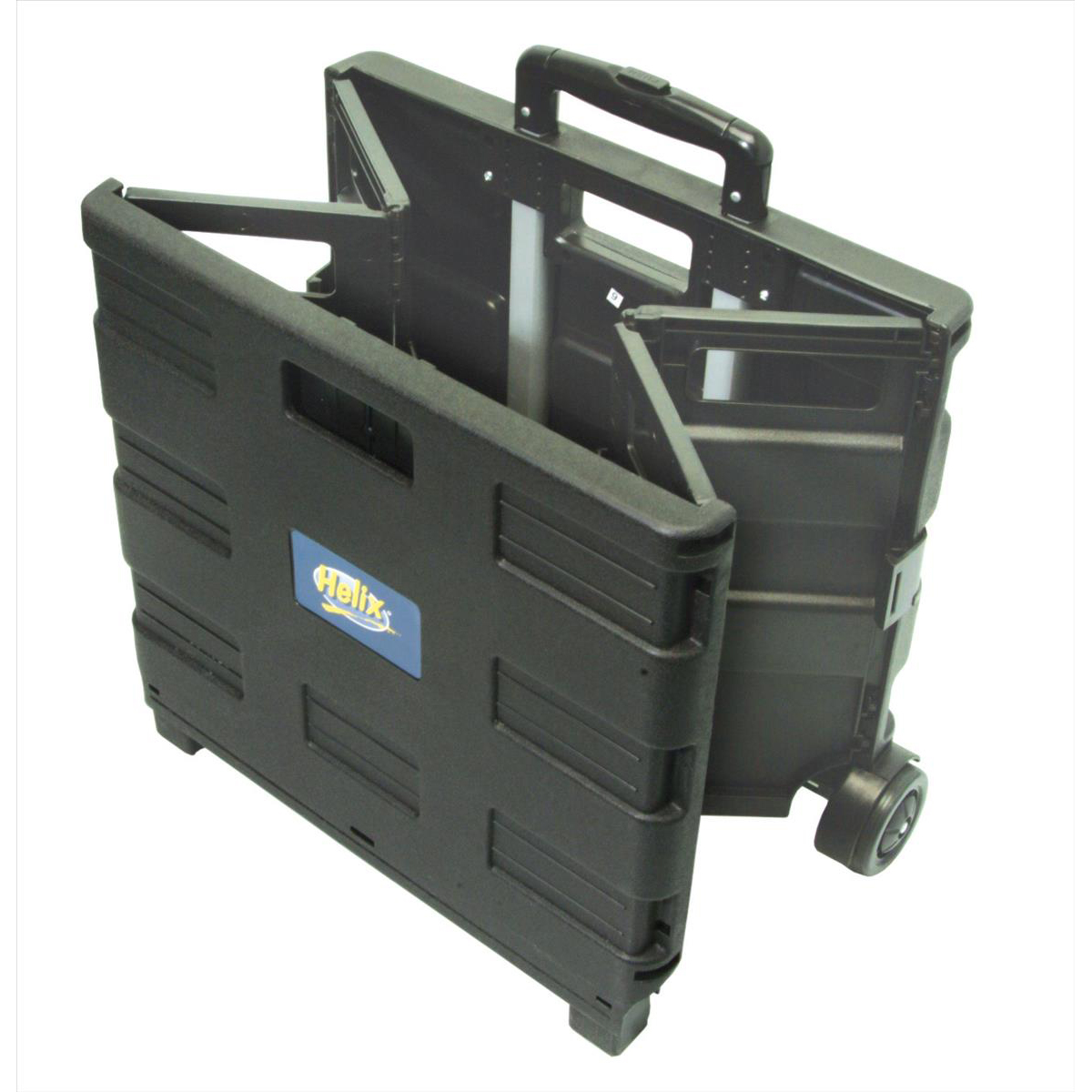 Trolleys Crate Trolley Foldable Capacity 35kg/44 litres 430x380x1000mm Black