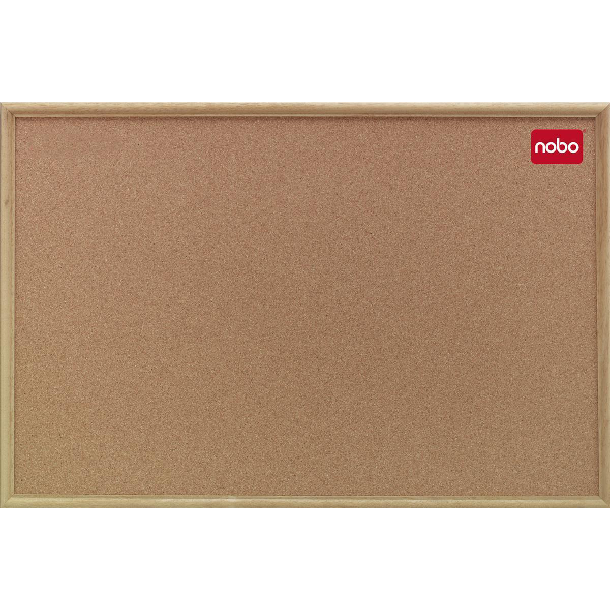 Nobo Classic Office Noticeboard Cork with Natural Oak Finish W1800xH1200mm Ref 37639005