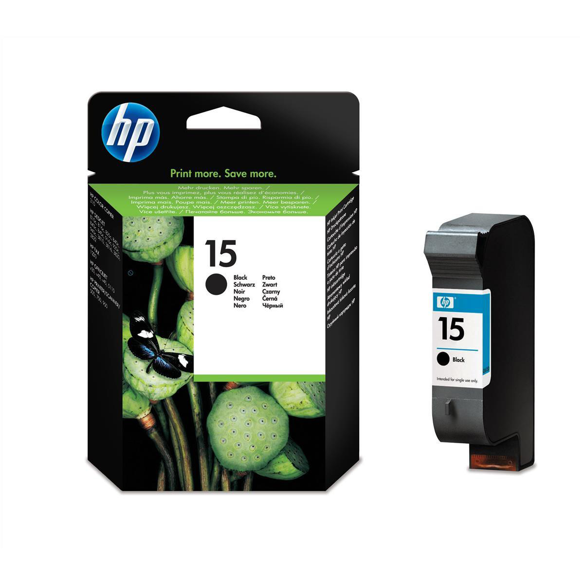 Hewlett Packard HP No.15 Inkjet Cartridge High Yield Page Life 500pp 25ml Black Ref C6615DE