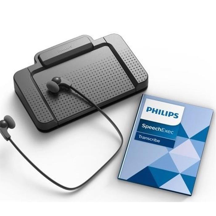 Dictation machines Philips Transcription Kit Headset 234 Foot Control 210 Software Web Licence Black Ref LFH7177/06