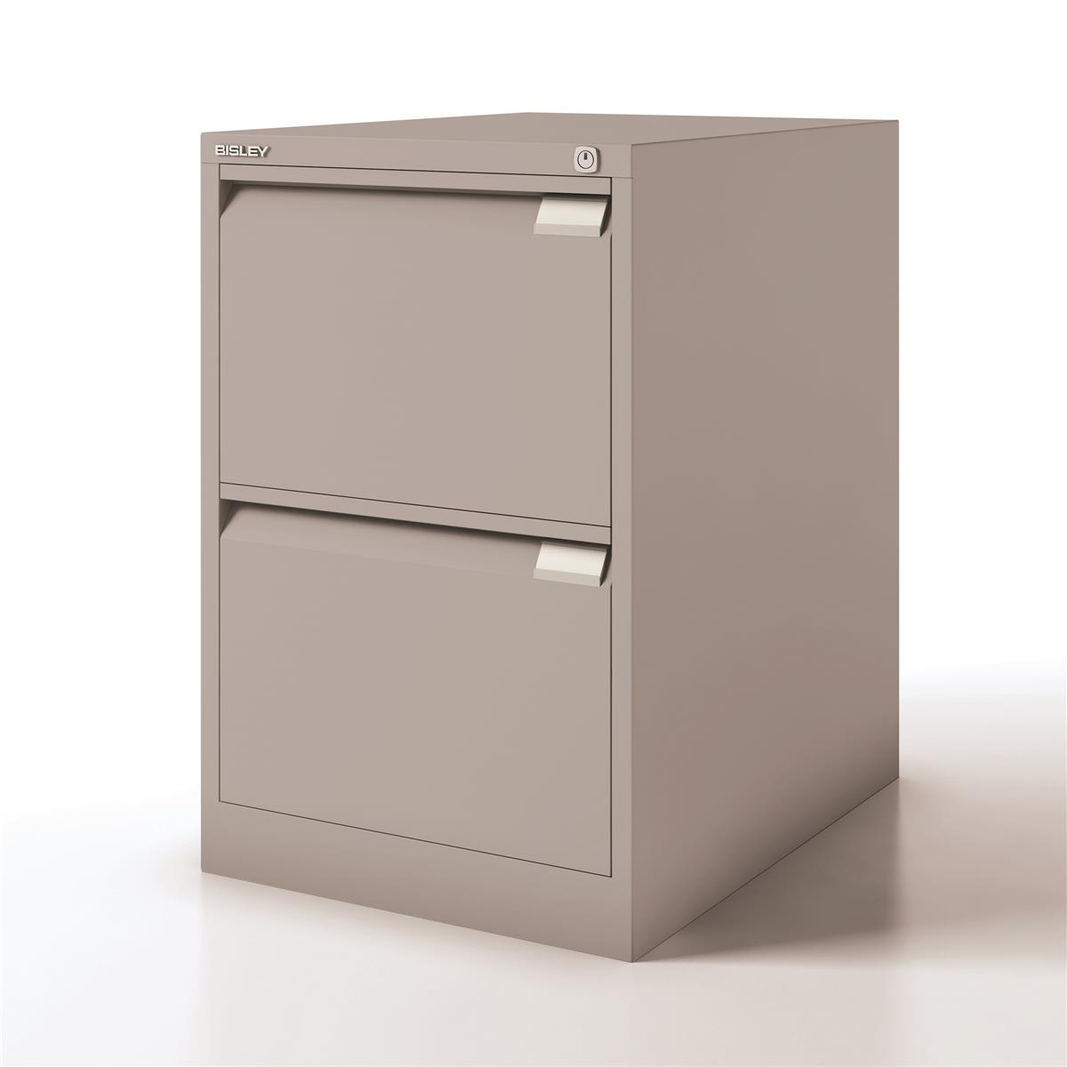 Bisley Filing Cabinet 2 Drawer 470x622x711mm Ref 1623-av4