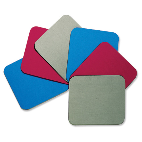 Mouse Mats Fellowes Economy Mousepad Rubber Sponge backing and Non-slip Base Red Ref 29701