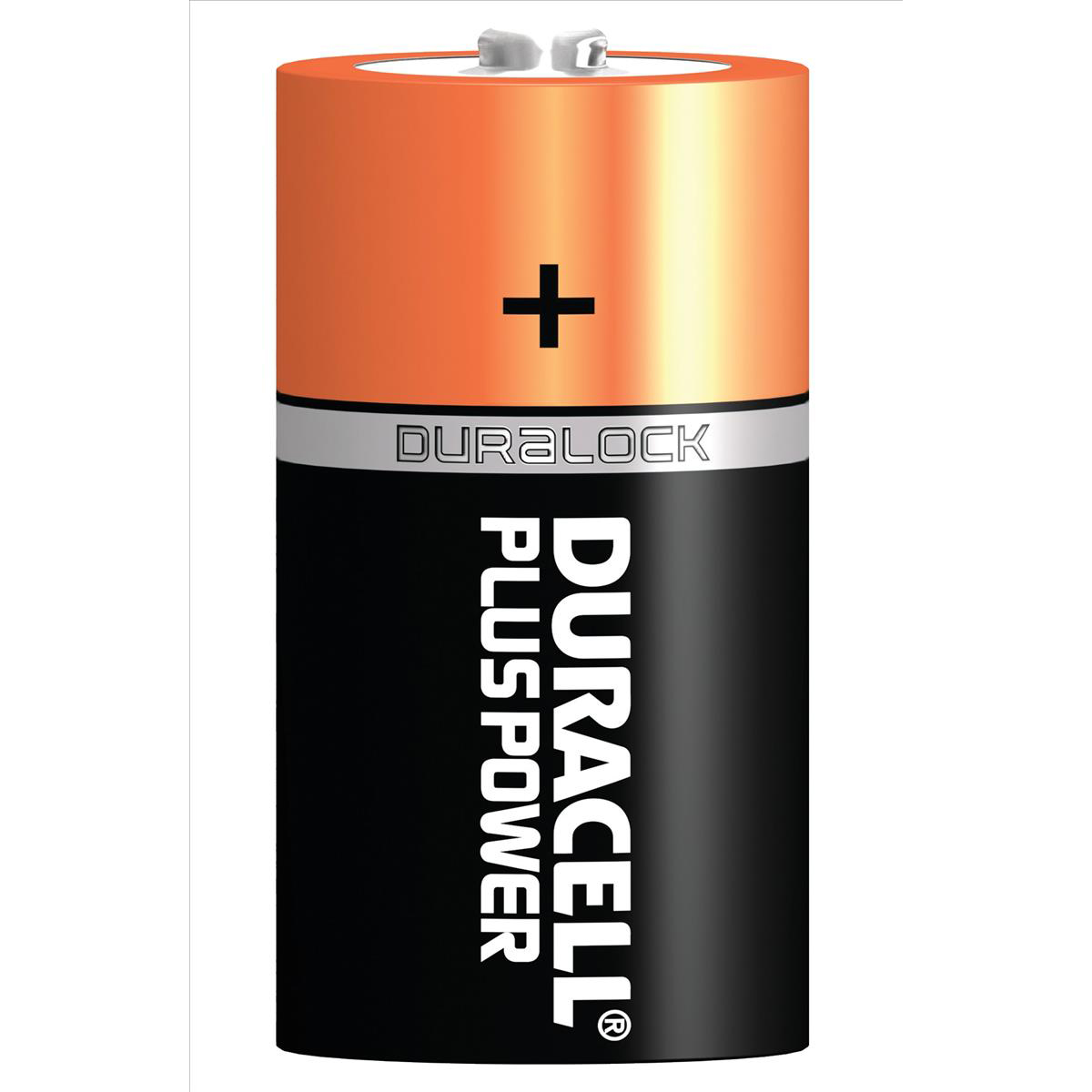 Duracell Plus Power Battery Alkaline 1.5V C Ref 81275429 Pack 2