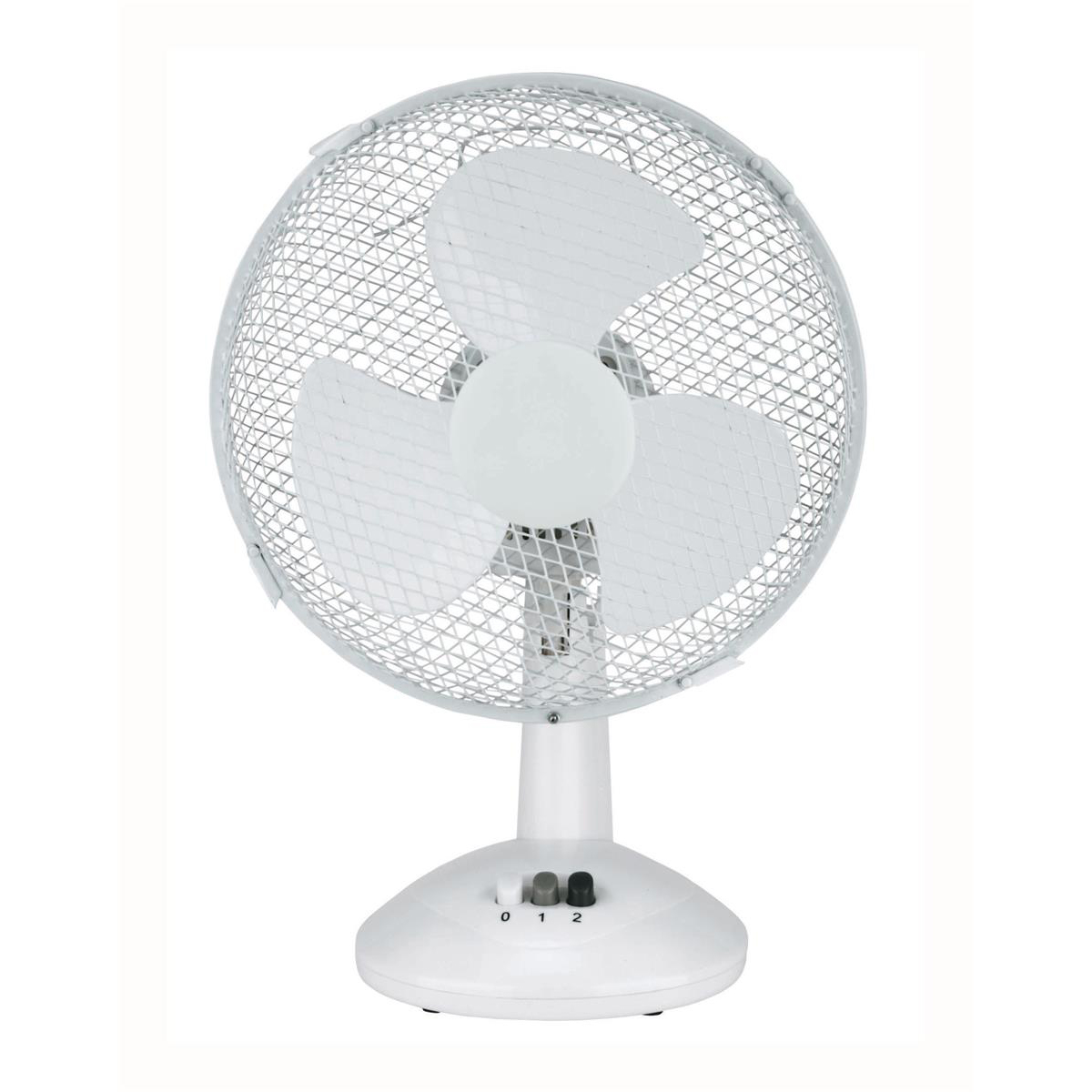 5 Star Facilities Desk Fan 9 Inch 90deg Oscillating with Tilt & Lock 2-Speed H320mm w/Cable 1.25m White