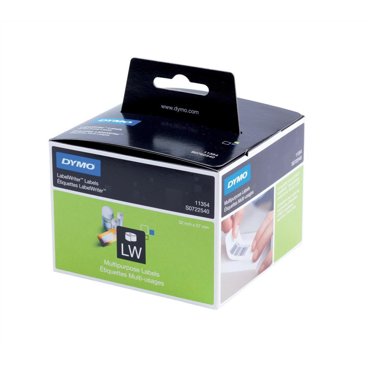 Labelling Tapes & Labels Dymo LabelWriter Labels Multipurpose White Ref 11354 S0722540 Pack 1000