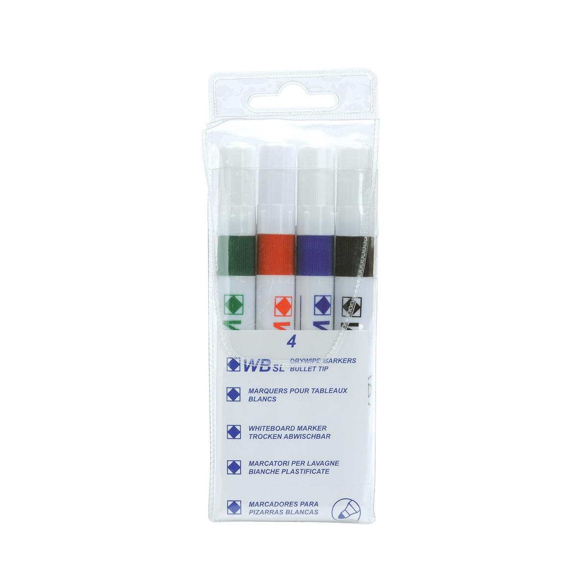 Image for 5 Star Value Strategy SL Dry Wipe Markers Assorted [Pack 4]