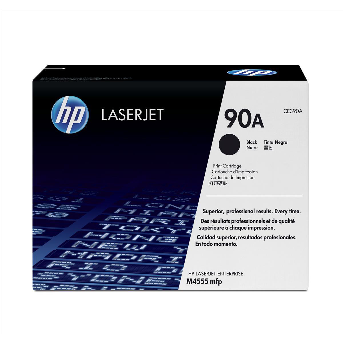 HP 90A Laser Toner Cartridge Page Life 10,000pp Black Ref CE390A