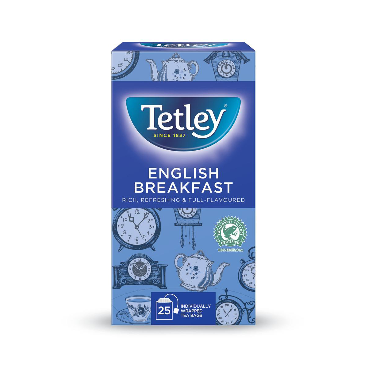 Tetley Individually Enveloped Tea Bags English Breakfast Drawstring in Envelope Ref 1278 Pack 25