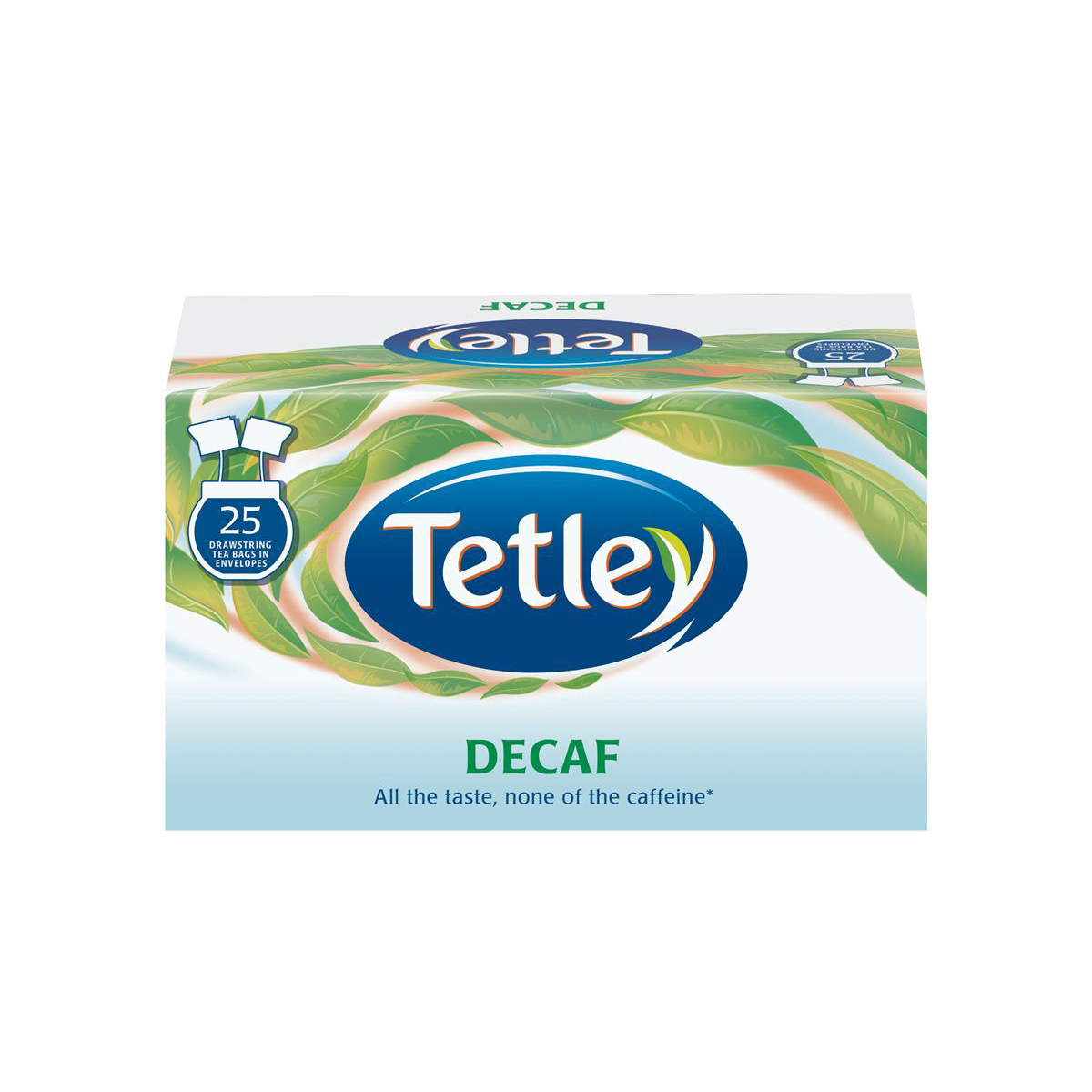 Image for Tetley Individually Enveloped Tea Bags Decaffeinated Drawstring in Envelope Ref 1285 [Pack 25]