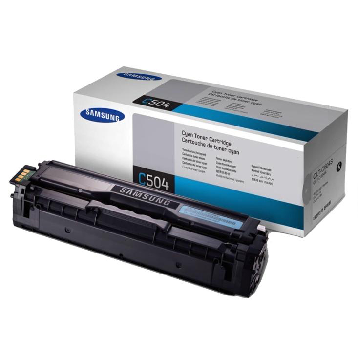 Samsung CLT-C504S Laser Toner Cartridge Page Life 1800pp Cyan Ref SU025A