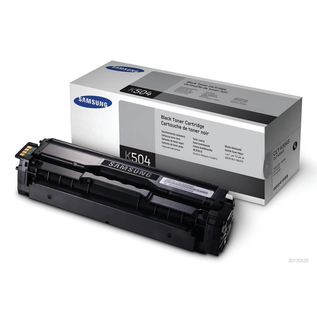 Samsung CLT-K504S Laser Toner Cartridge Page Life 2500pp Black Ref SU158A