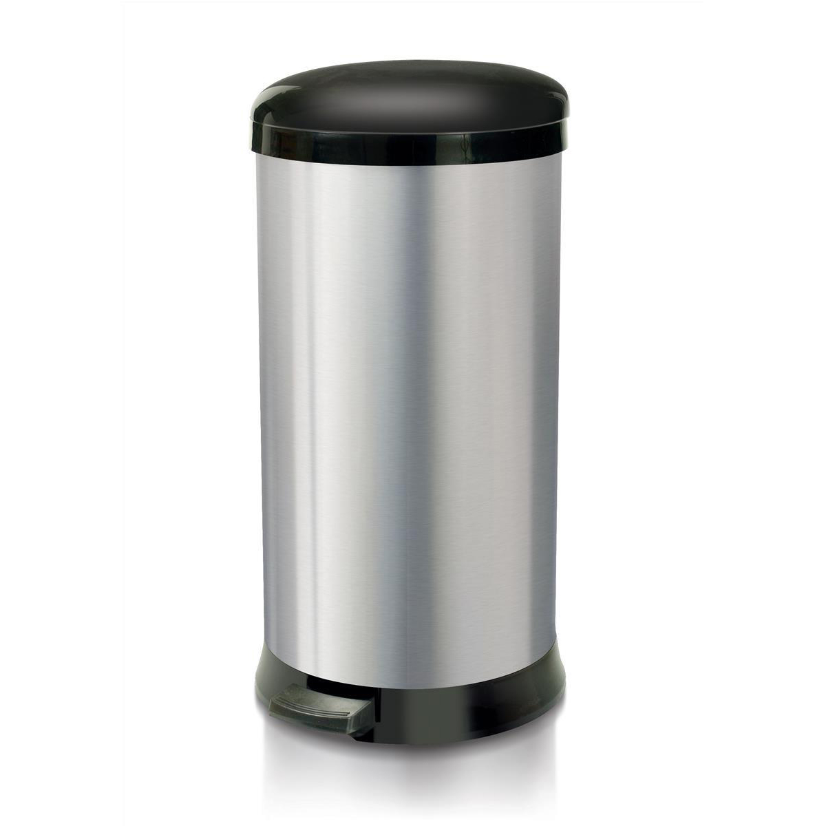 Rubbish Bins Addis Pedal Bin Cushion Close 30 Litre Stainless Steel Ref 518017