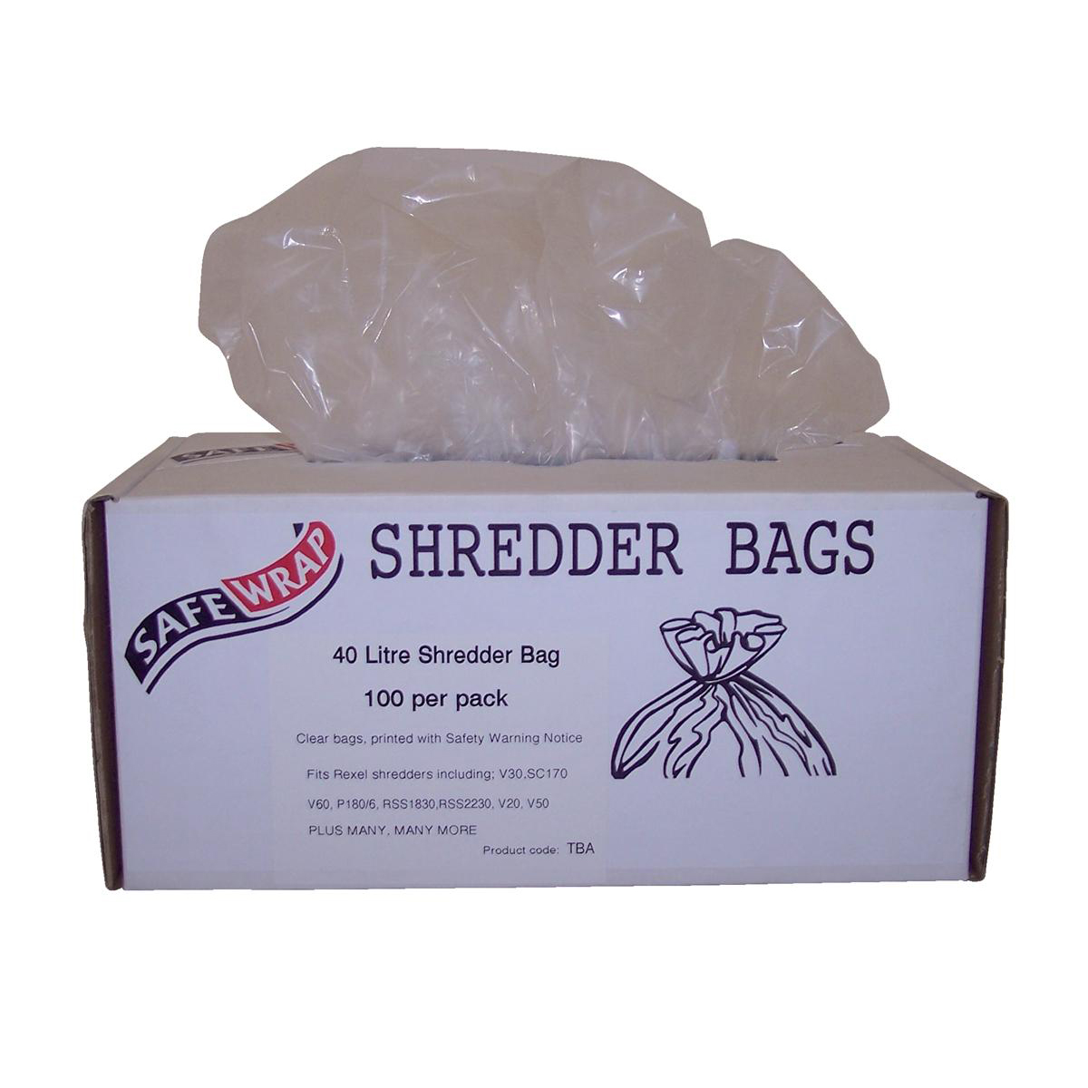 Image for Robinson Young Safewrap Shredder Bags 40 Litre Ref RY0470 [Pack 100]