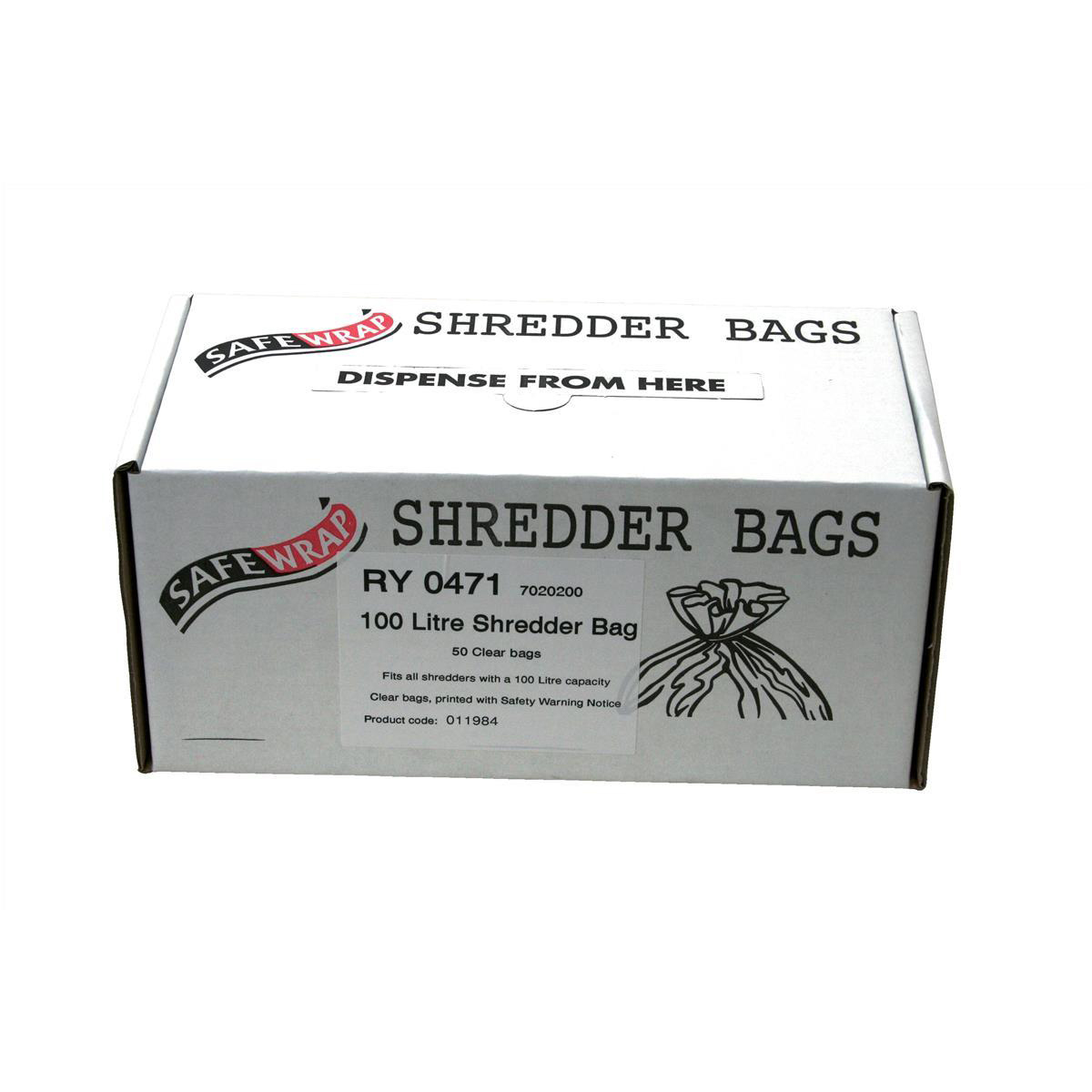 Image for Robinson Young Safewrap Shredder Bags 100 Litre Ref RY0471 [Pack 50]