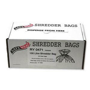 Robinson Young Safewrap Shredder Bags 100 Litre Ref RY0471 Pack 50