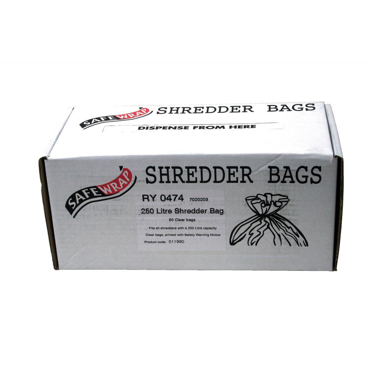 Bags / Sacks Robinson Young Safewrap Shredder Bags 250 Litre Ref RY0474 Pack 50