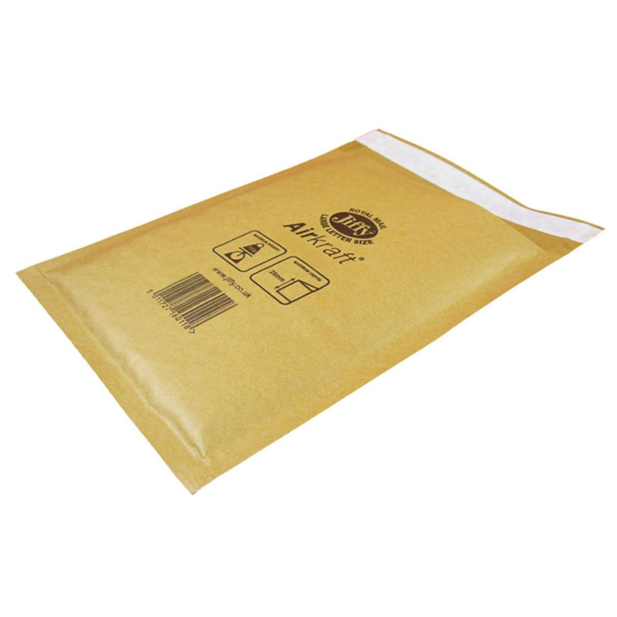 Specialty envelopes Jiffy Airkraft Bubble Bag Envelopes Size 8 450x650mm Gold Ref MAKC04221 Pack 50
