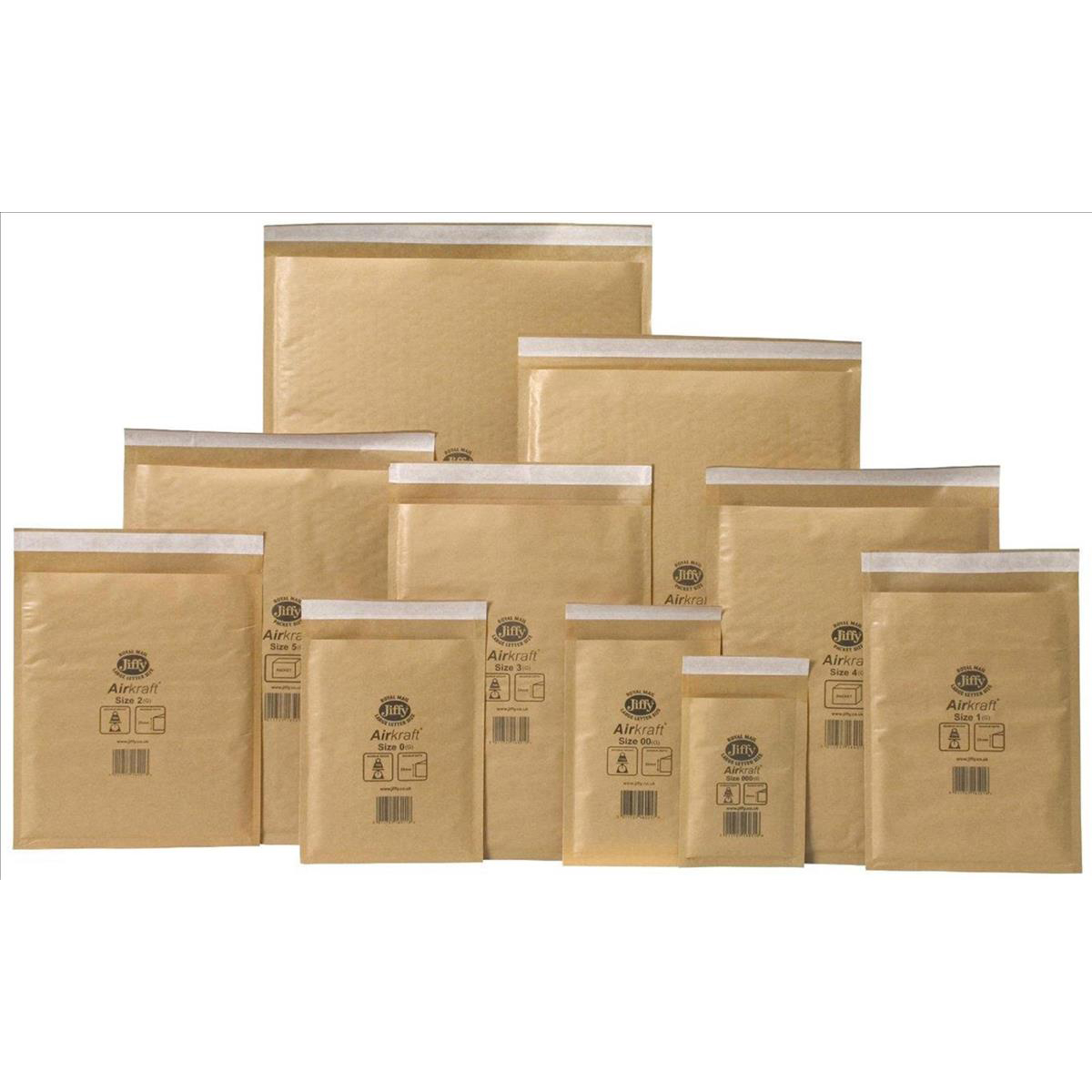 Jiffy Airkraft Bubble Bag Envelopes Size 8 450x650mm Gold Ref MAKC04221 [Pack 50]
