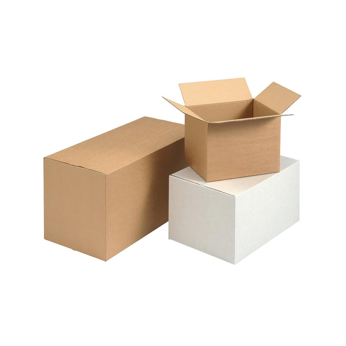 Packaging boxes Packing Carton Single Wall Strong Flat Packed W635xD305xH330mm Brown Pack 10