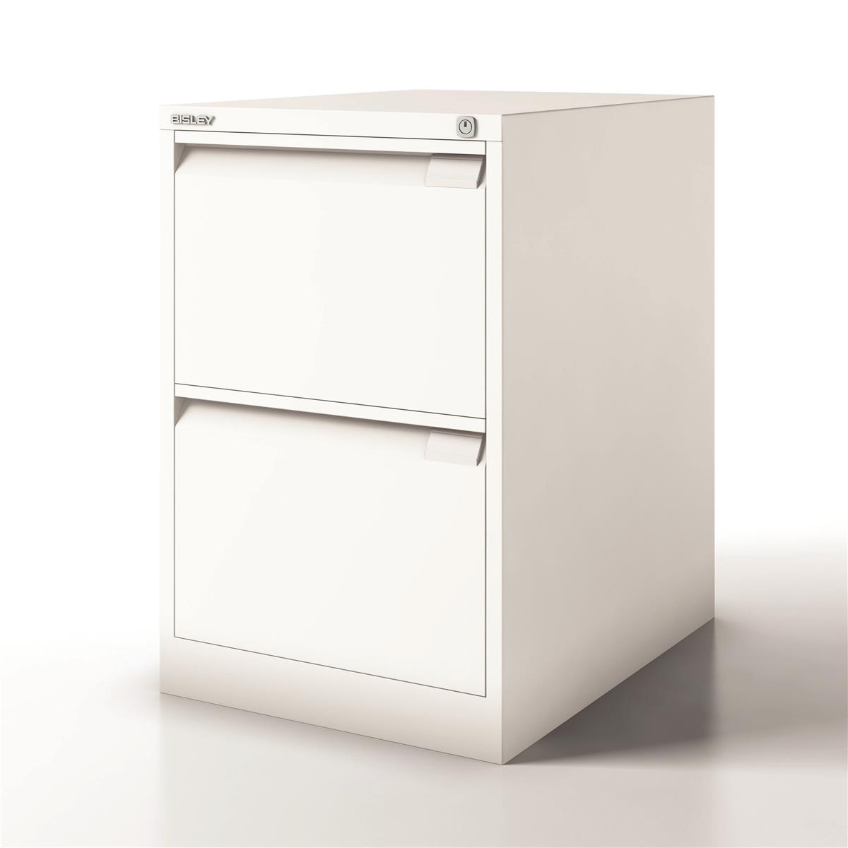 Filing cabinets or accesories Bisley Filing Cabinet 2 Drawer 470x622x711mm White Ref 1623-ab9