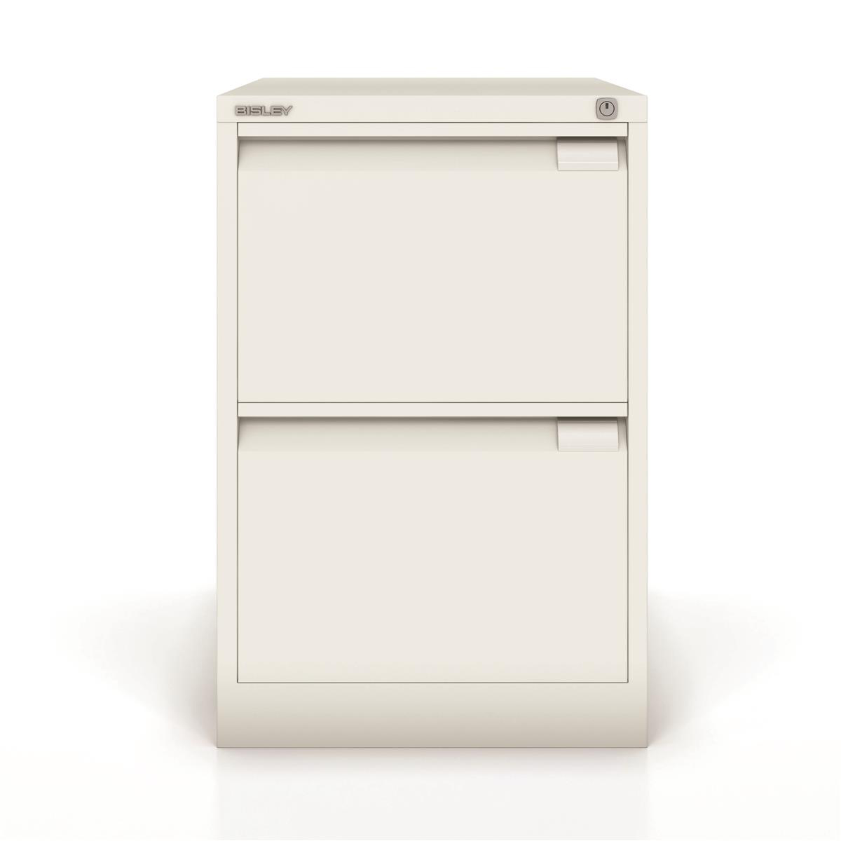 Bisley Filing Cabinet 2 Drawer 470x622x711mm White Ref 1623-ab9