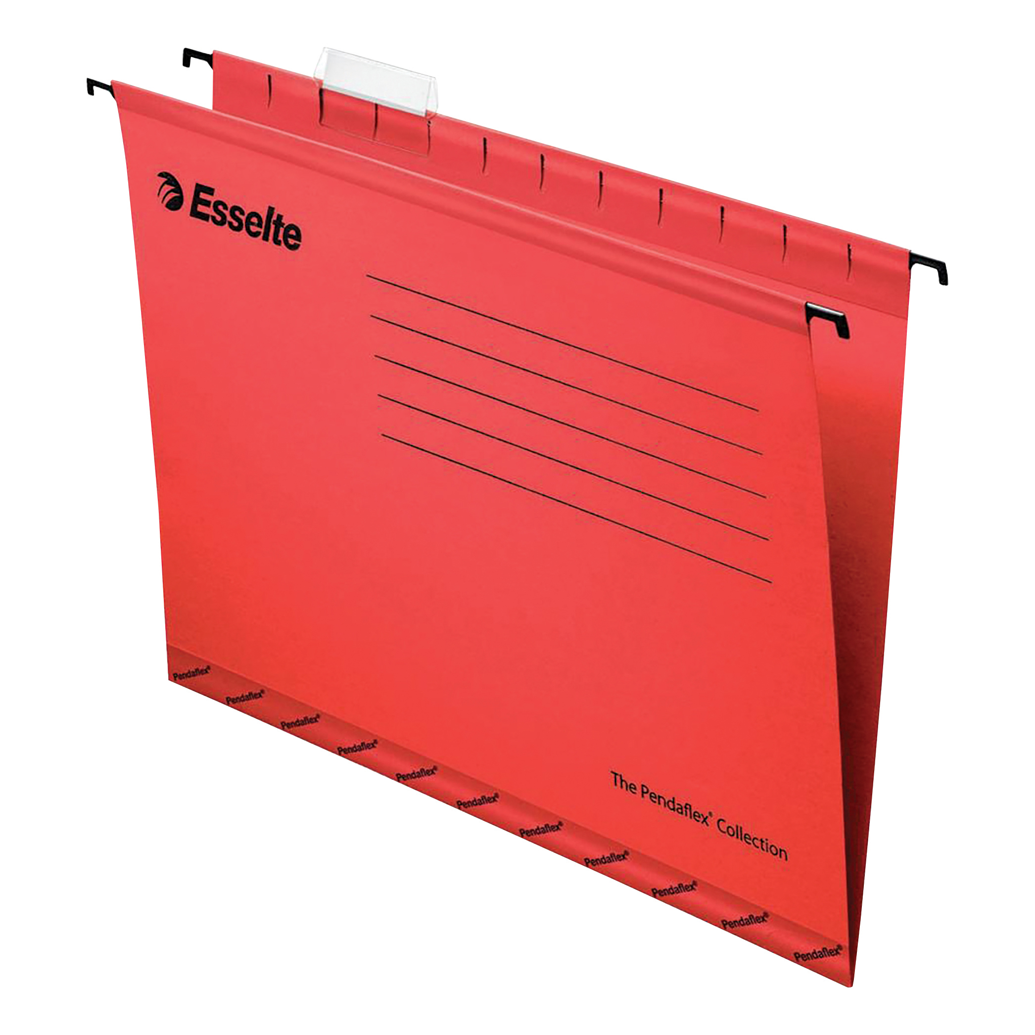 Esselte Classic Reinforced Suspension File Manilla 15mm V-base 210gsm Foolscap Red Ref 90336 [Pack 25]
