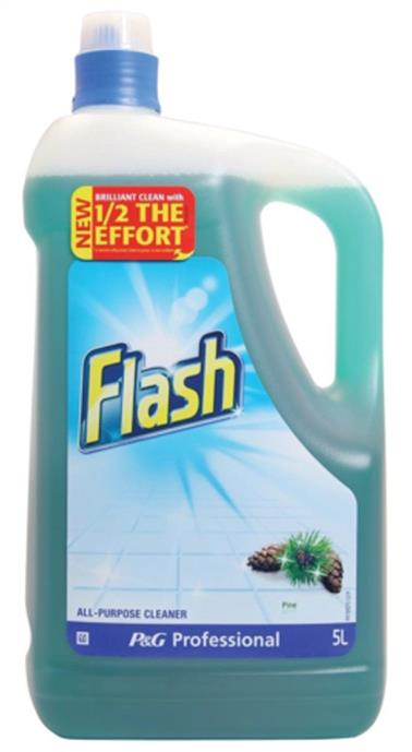 Flash All Purpose Cleaner for Washable Surfaces 5 Litres Morning Dew Fragrance Ref 73546
