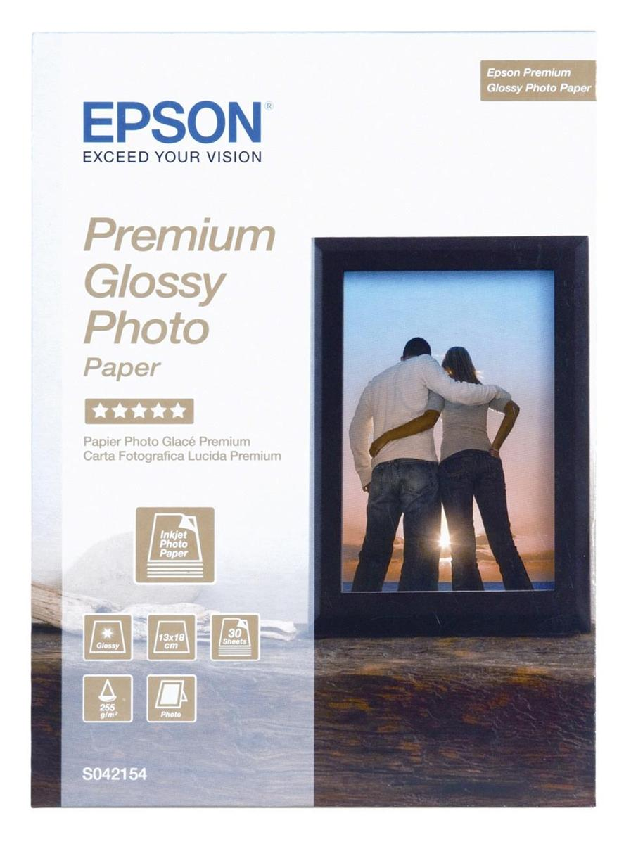 Epson Photo Paper Premium Glossy 130x180mm Ref S042154 [30 Sheets]