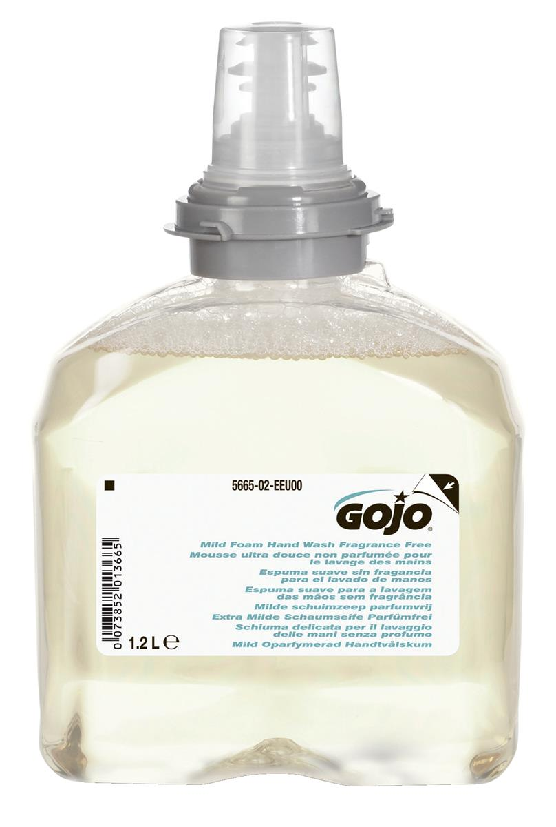 Gojo Foam Soap Hand Wash Refill Antibacterial for TFX Dispenser 1200ml Ref N06249 [Pack 2]