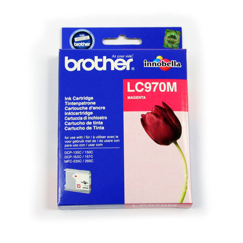 Brother Inkjet Cartridge Page Life 300pp Magenta Ref LC970M