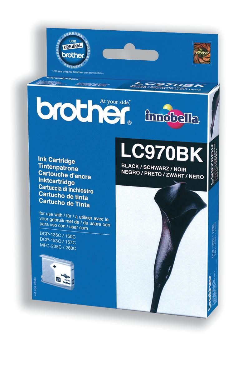 Brother Inkjet Cartridge Page Life 350pp Black Ref LC970BK