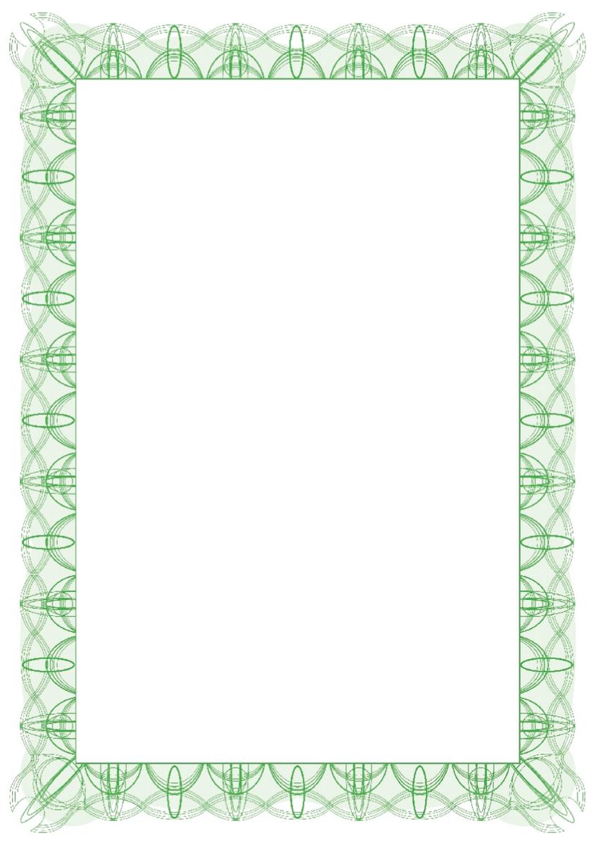 Certificate Papers with Foil Seals 90gsm A4 Green Reflex [Pack 30]