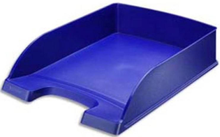 Leitz Letter Tray Robust Polystyrene High Sided with Extra Label Space Blue Ref 52270035
