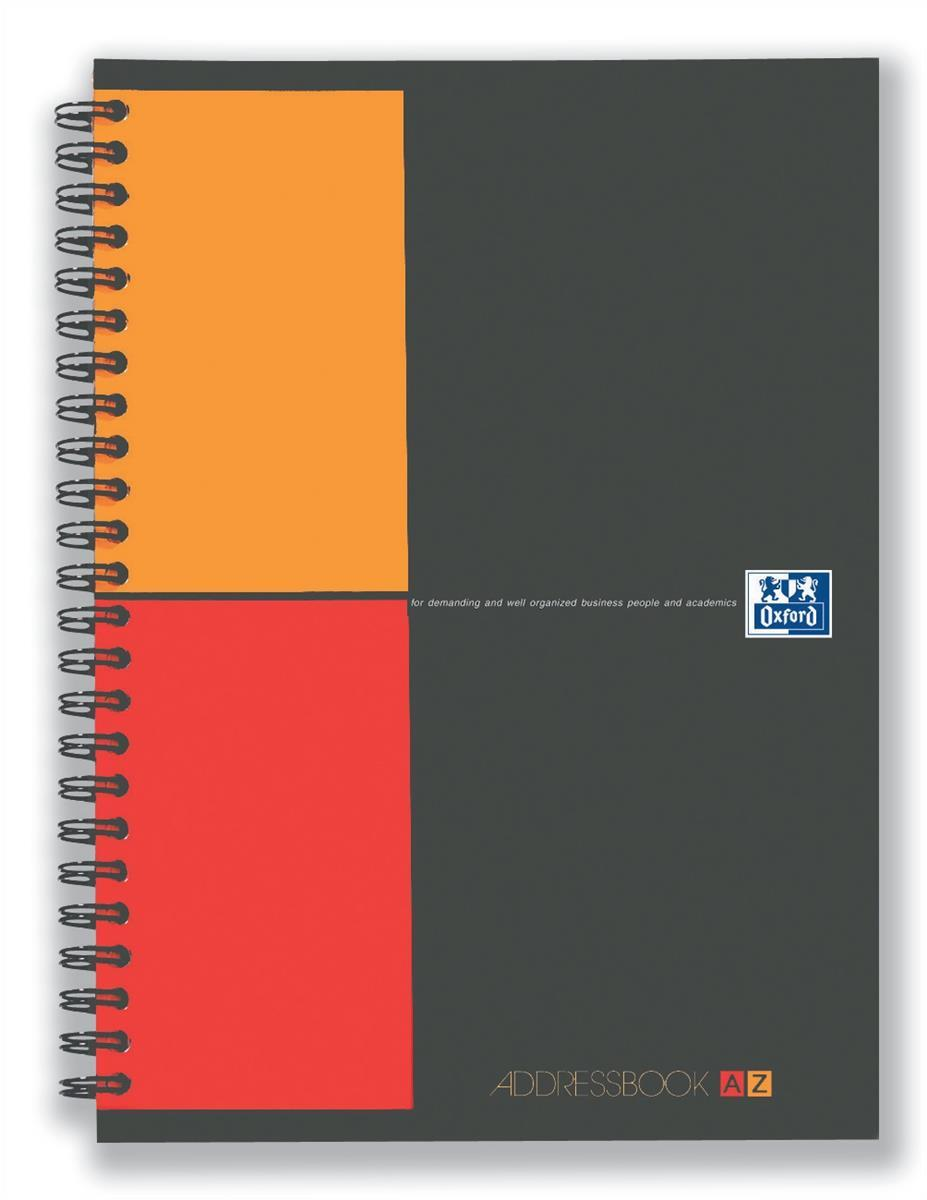 Image for Oxford International Address Book A-Z Polypropylene Wirebound 160pp 90gsm A5 Ref 100103165..