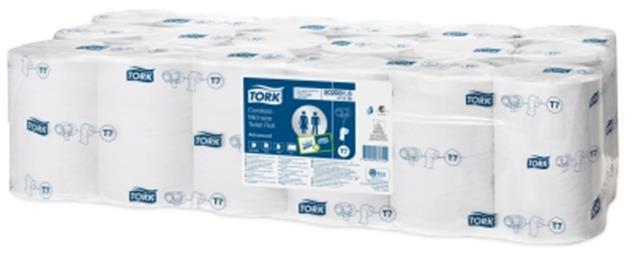 Tork Toilet Roll Coreless 2-ply 93x125mm 900 Sheets White Ref 472199 [Pack 36]