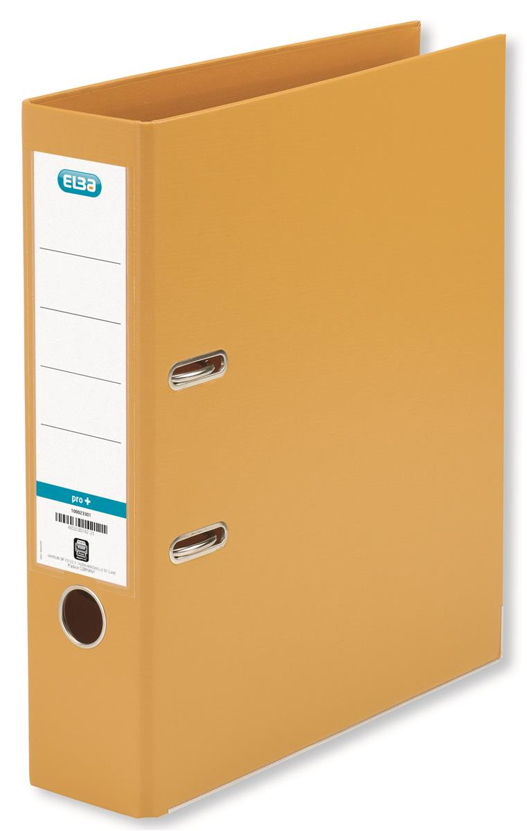 Elba Lever Arch File PVC 70mm Spine A4 OrangeRef 100202170 [Pack 10]