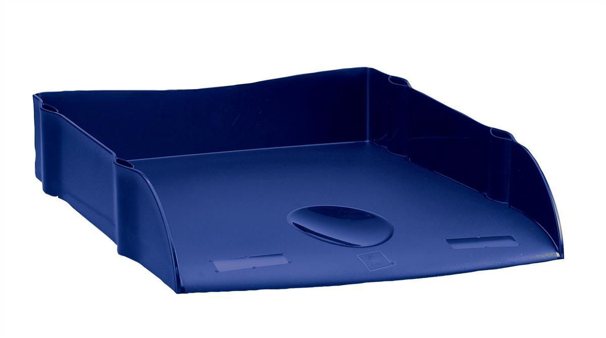 Avery DTR Letter Tray Self-stacking W270xD360xH60mm Blue Ref DR100BLU