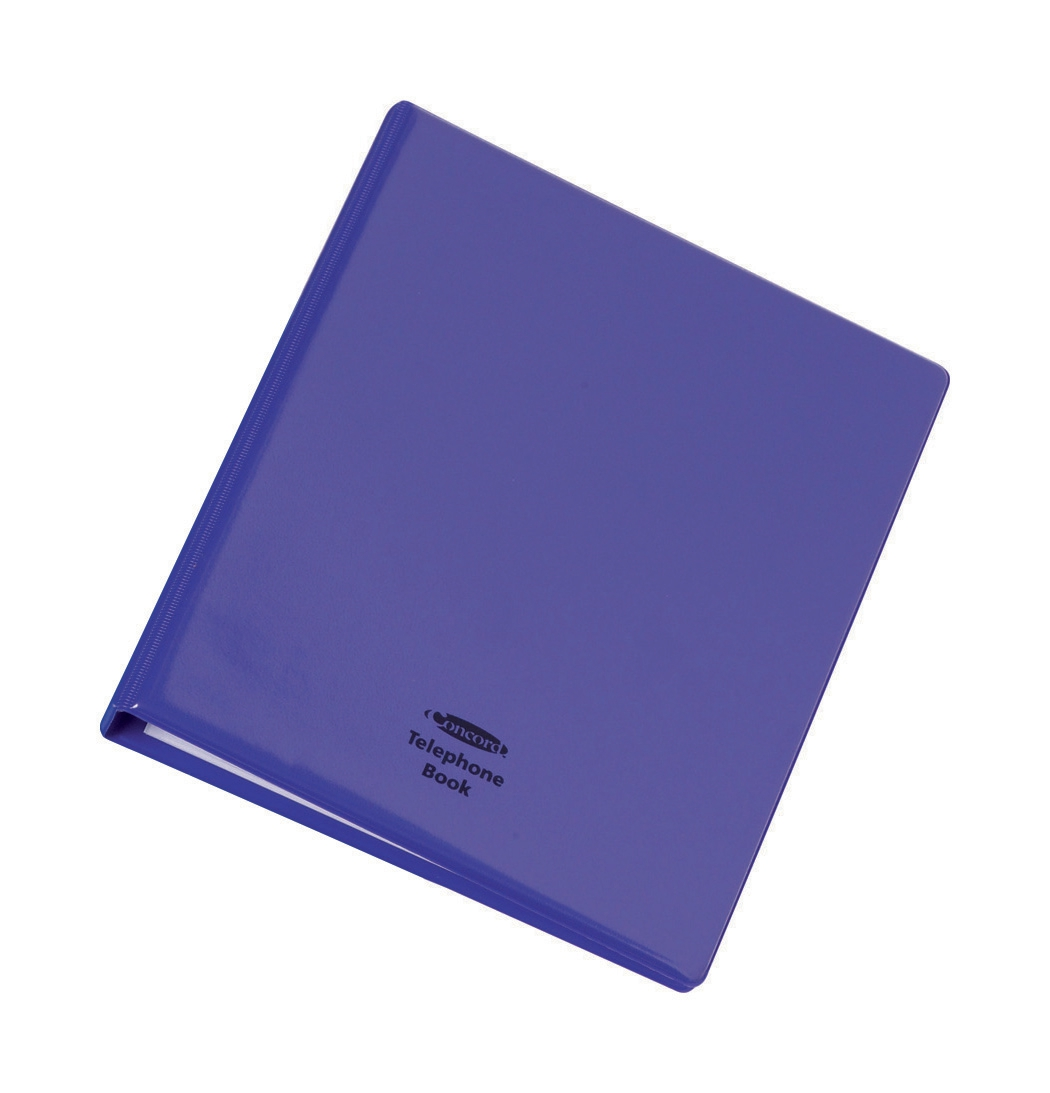 Telephone Index and Address Book Binder with Matching A-Z Index and 20 Sheets A5 Purple