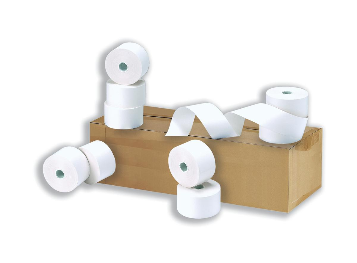 Cash Register Rolls 2-Ply 55gsm 76x76x12.7mm Length 23m [Pack 20]
