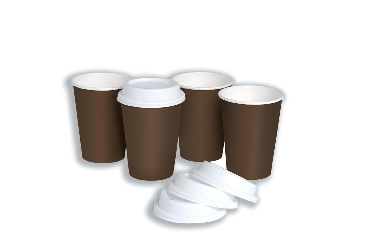 Coffee Cup and Drink Through Lid Combi Pack 10oz 296ml [Pack 50]