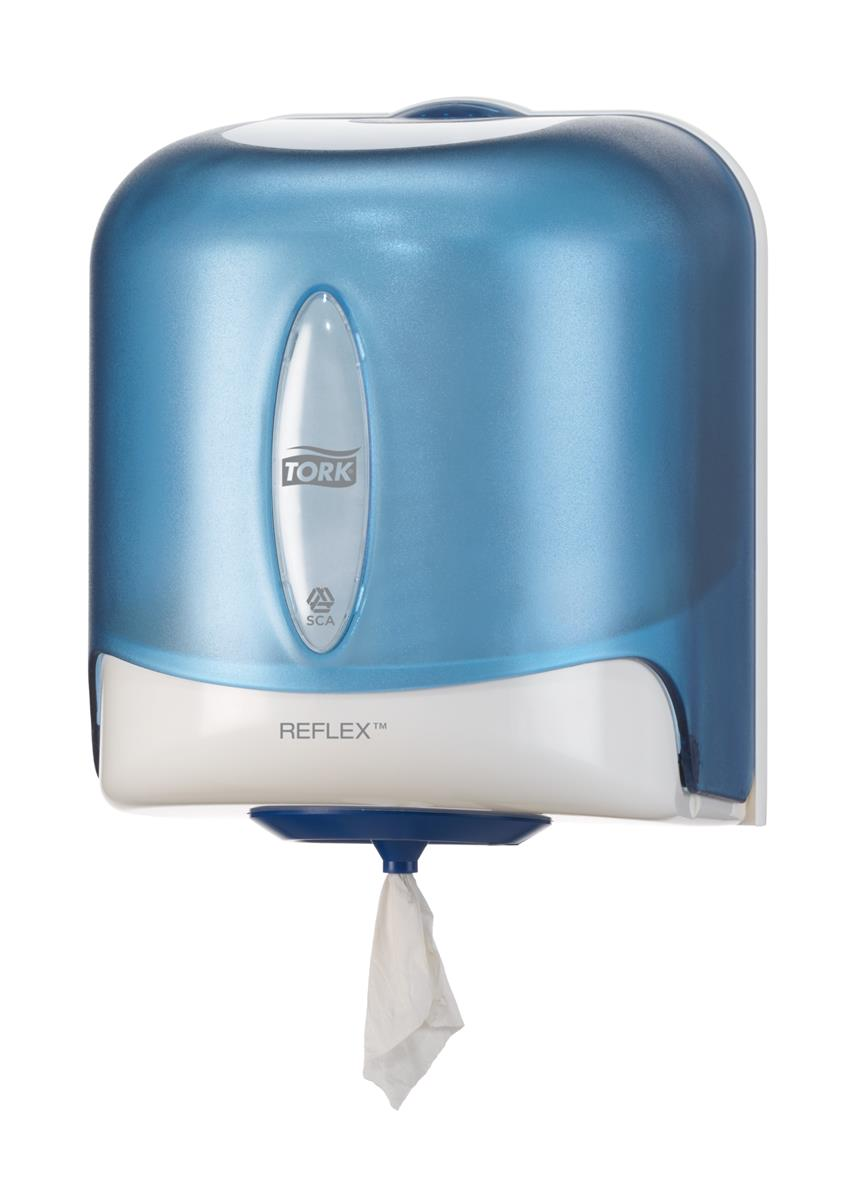 Tork Reflex Centrefeed Wiper Dispenser Plastic Blue Ref 473133