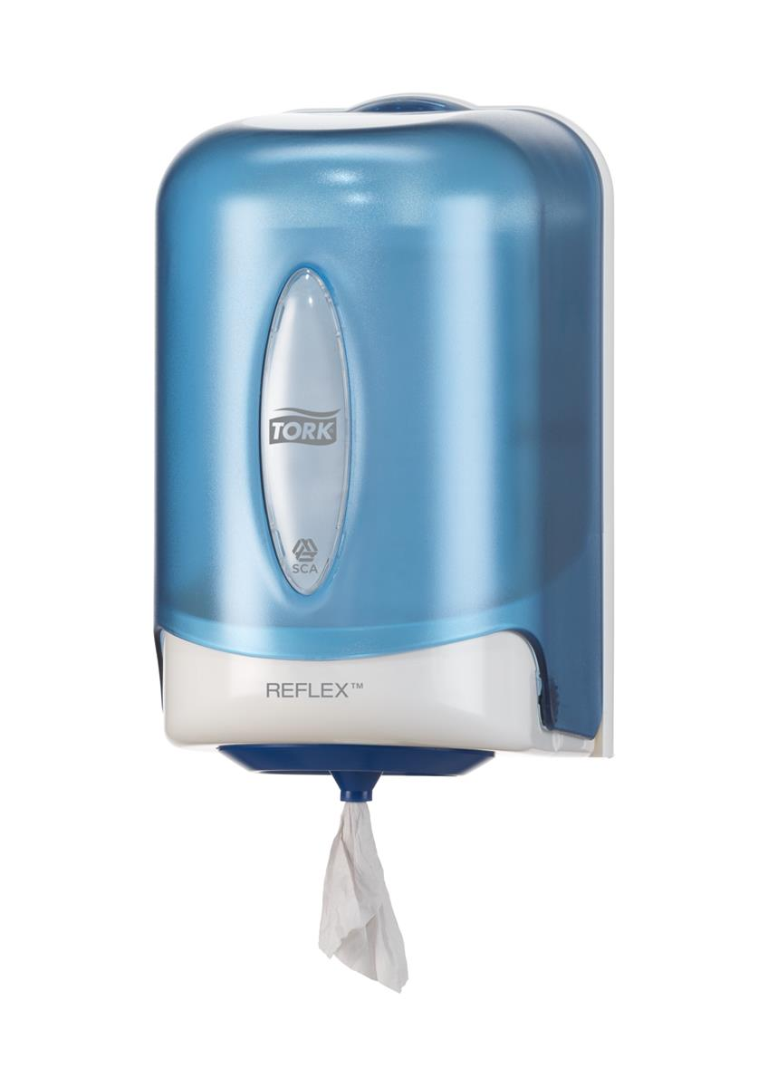 Tork Reflex Centrefeed  Mini Wiper Dispenser Plastic Blue Ref 473137