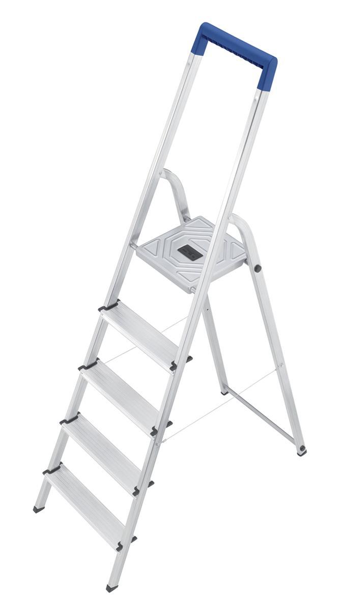 Folding Aluminium Ladder 5 Non Slip Ribbed Steps 4.6kg
