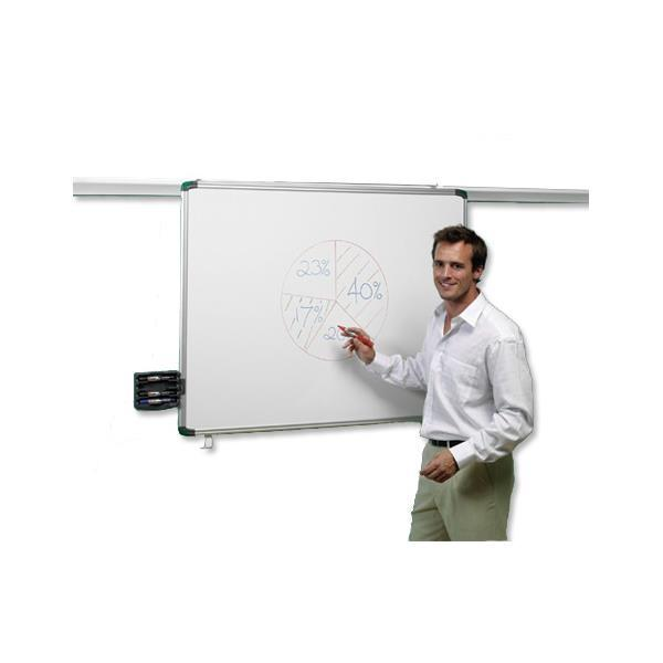 Nobo Pro-Rail Drywipe Board Magnetic 1200mm Aluminium Trim Ref 1901233
