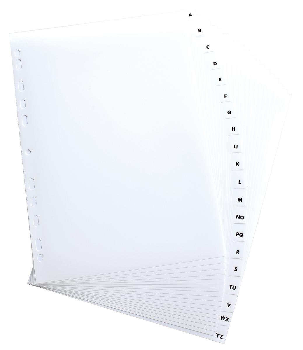 Elba Dividers Europunched A-Z Clear Tabs A4 White Ref 100204596