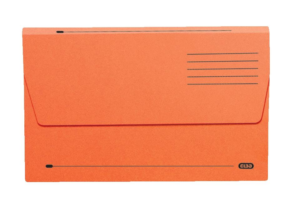 Elba Document Wallet Half Flap 285gsm Capacity 30mm Foolscap Orange Ref 100090241 [Pack 50]