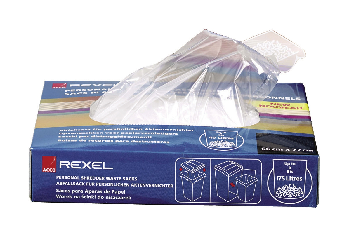Rexel AS1000 Waste Sacks Polypropylene 115 Litres Ref 40070 [Pack 100]